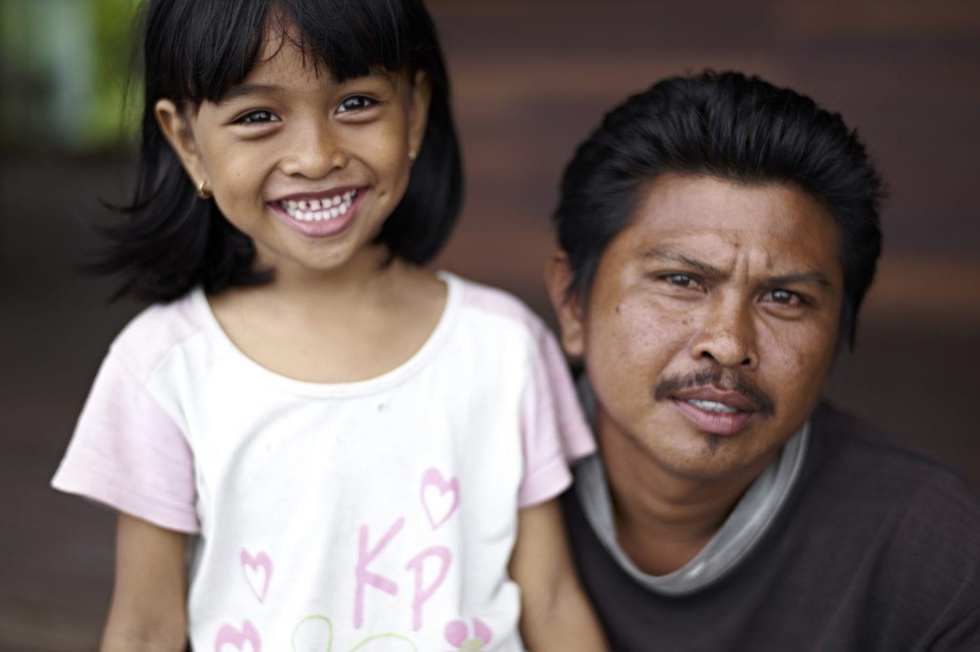2013 in Bali – Portrait Vater mit Tochter