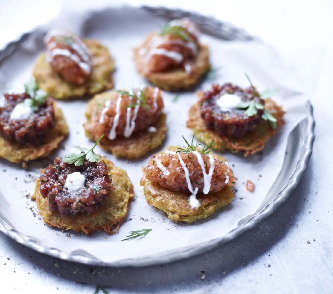 Mario Kotaska – Streetfood Tartar mit Lachs und Rind