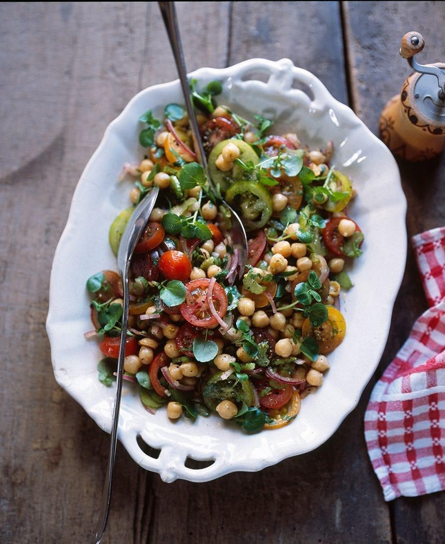 Meine Familie und ich–Tomaten-Kichererbsen-Salat
