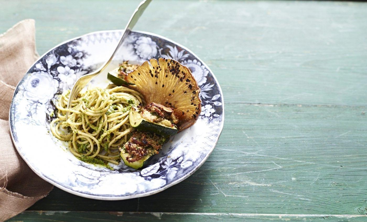 Surdhams Goeb Meine Vegane Kueche Spaghetti mit Rucolapesto