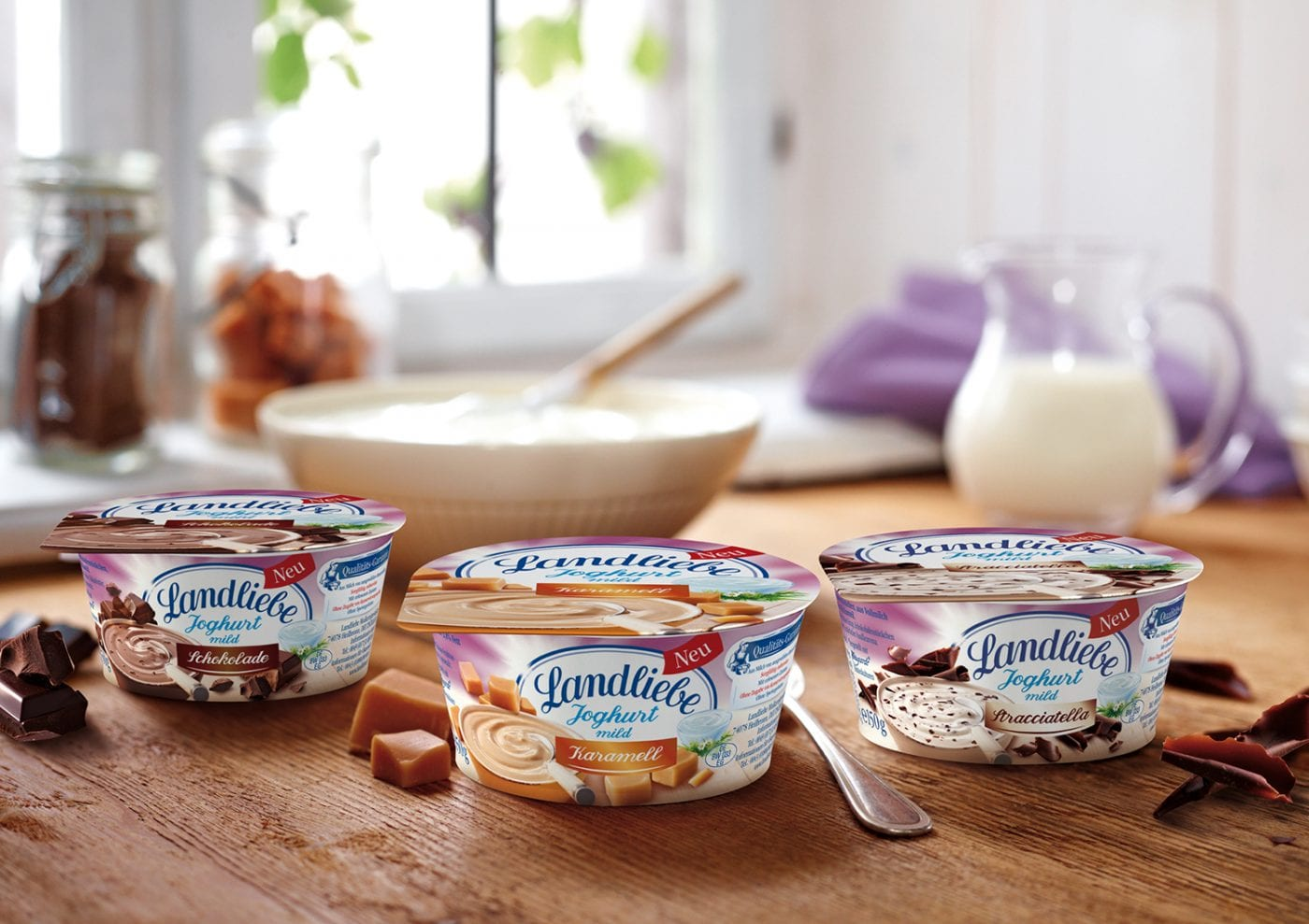 Landliebe Joghurt, neue Sorten im Becher